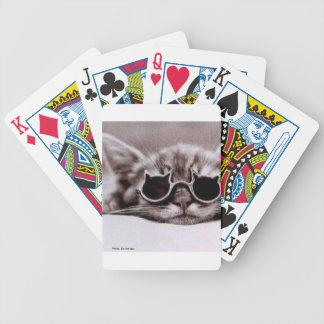 Cartes de jeu vivantes de bicyclette du chat le jeu de poker