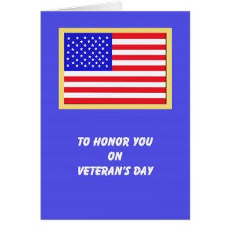 Cartes de jour de vétérans de drapeau américain