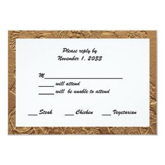 Cartes de l'anniversaire de mariage d'or RSVP
