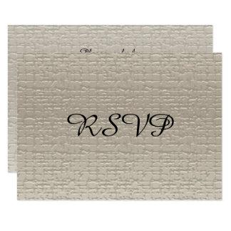 Cartes de l'anniversaire de mariage RSVP, Blanc-Or Carton D'invitation 8,89 Cm X 12,70 Cm