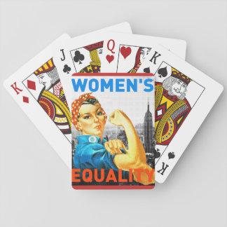 Cartes de l'égalité des femmes jeux de cartes