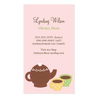 Cartes de maman de thé carte de visite standard