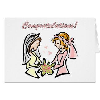 Cartes de mariage lesbiennes - intérieur de blanc