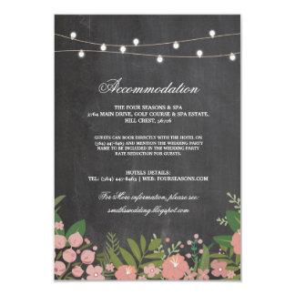 Cartes de mariage rustiques florales de logement carton d'invitation 8,89 cm x 12,70 cm