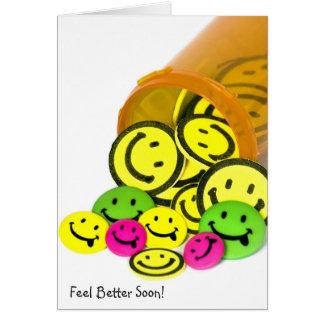 Cartes De meilleures pilules bientôt heureuses de visage