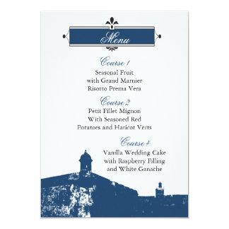 Cartes de menu de mariage de Castillo De San Carton D'invitation 12,7 Cm X 17,78 Cm