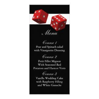 Cartes de menu de mariage de Las Vegas Double Carte