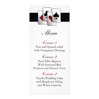 Cartes de menu de mariage de Las Vegas Cartons D'informations 10 Cm X 22,9 Cm