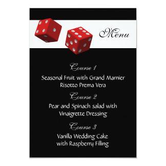 Cartes de menu de mariage de Las Vegas Invitations Personnalisables