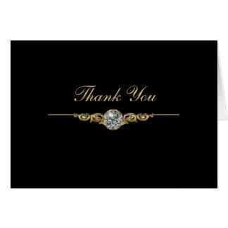 Cartes de Merci d'affaires de bijoutier