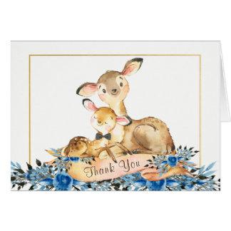 Cartes de Merci de baby shower de cerfs communs de