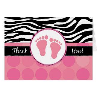 Cartes de Merci de baby shower pliées par copie de