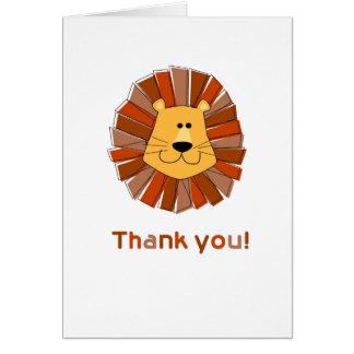 Cartes de Merci de lion
