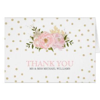 Cartes de Merci de mariage de pivoine de