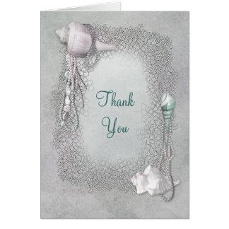 Cartes de Merci de perles de coquillages de plage