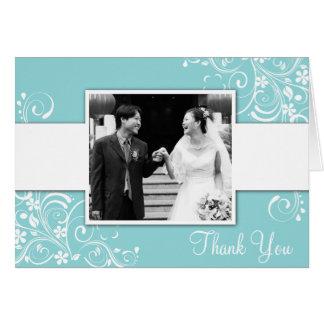 Cartes de Merci de photo de mariage
