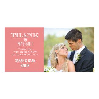 Cartes de Merci de photo de mariage de flocon de Photocartes Personnalisées