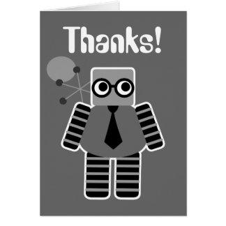 Cartes de Merci de robot de geek