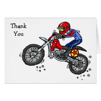 Cartes de Merci de vélo de saleté de motocross