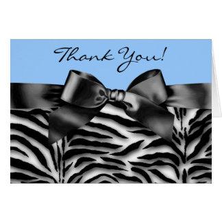 Cartes de Merci de zèbre de noir et de bleus
