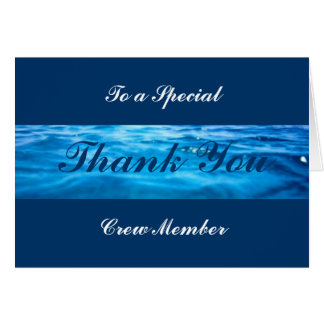 Cartes de Merci d'équipage - personnalisables