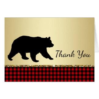 Cartes de Merci d'ours de bûcheron d'ours