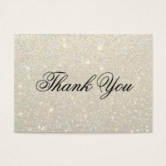 Cartes de Merci - or blanc Glit ouvrier