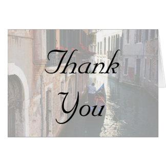 Cartes de Merci pour le thème vénitien