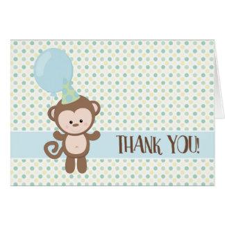 Cartes de Merci - singe de bébé