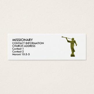 CARTES de MISSIONNAIRE de MORONI LDS d'ange