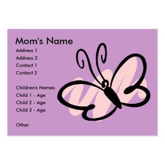 Cartes de Mommie de papillon Modèles De Cartes De Visite