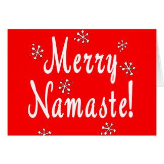 Cartes de Namaste de Joyeux Noël