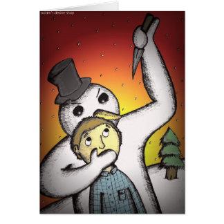 Cartes de Noël alternatives - bonhomme de neige de