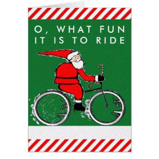 cartes de Noël de bicyclette