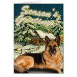 Cartes de Noël de cabine de neige de berger
