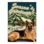 Cartes de Noël de cabine de neige de berger allema