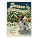 Cartes de Noël de cabine de neige de Jack Russell
