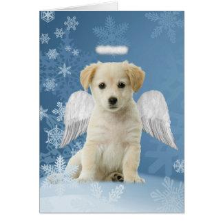 Cartes de Noël de chiot d'ange