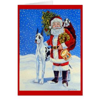 Cartes de Noël de great dane