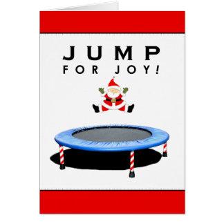 cartes de Noël de gymnastique
