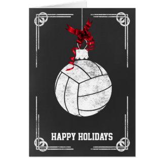 cartes de Noël de joueur de volleyball de tableau