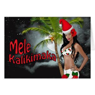 Cartes de Noël de pin-up de Wahine Mele Kalikimaka