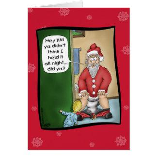 Cartes de Noël drôles : Arrêt de mine
