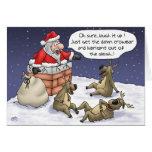 Cartes de Noël drôles : Collé