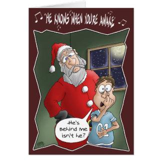 Cartes de Noël drôles : Connaît quand vous êtes