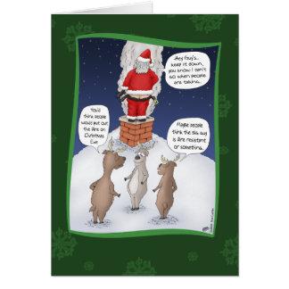 Cartes de Noël drôles : Éteignez le feu