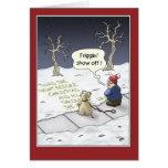 Cartes de Noël drôles : Flux stationnaire