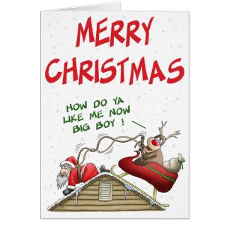 Cartes de Noël drôles : Inversion de rôle