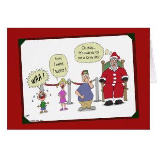 Cartes de Noël drôles : Longue journée