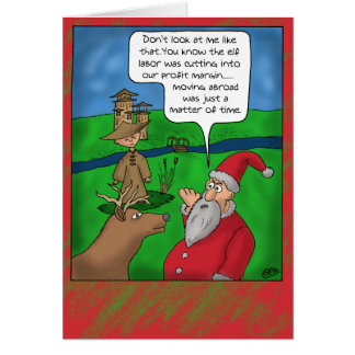 Cartes de Noël drôles : Noël à l'étranger